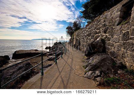Lingomare Seafront Walkway In Opatija Riviera