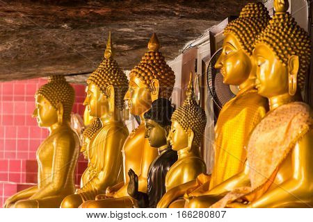 Thailand temple buddha image, Wat tam kong pel temple.