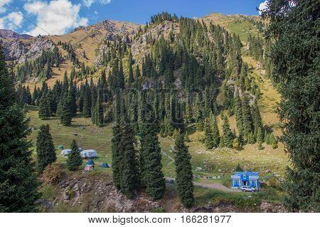 Tuyk Su Gorge Near Shymbulak Ski Resort. Tien Shan Mountains At Summer Time, Almaty, Kazakhstan