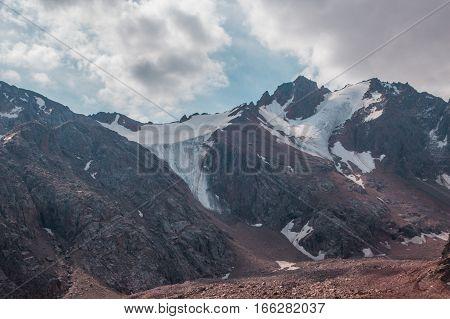 Snow-covered Peaks Behind Talgar Pass In Tien Shan Mountains, Almaty, Kazakhstan