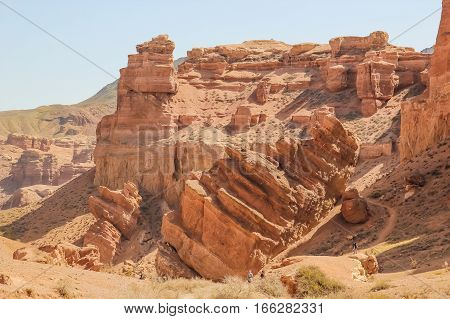 Charyn Canyon and the Valley of Castles National park Kazakhstan.
