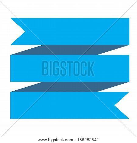 blue ribbon banner on white background. blue ribbon banner sign.