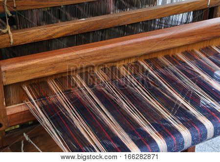 Wooden Frame For Spinning The Fabric With The Ancient Techniques