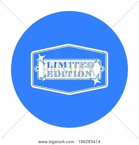 Limited edition icon in blue style isolated on white background. Label symbol vector illustration.
