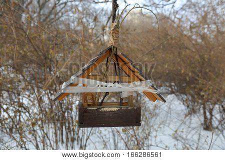 Feeder For Birds In The Park