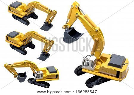 Engineering Vehicle Diecast Crawler Hydraulic Exca machine, engineering, crawler crane