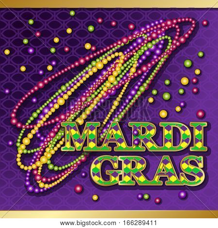 Mardi gras background vector photo free trial bigstock vector golden text fat tuesday on french language greeting cards with m4hsunfo