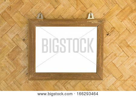 white space picture in bamboo frame in Bamboo woven walls