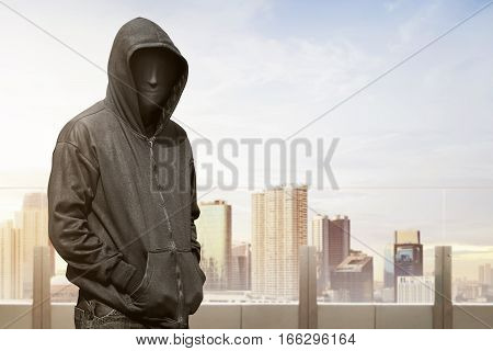 Man With Vendetta Mask Standing