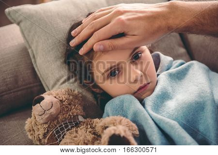 Little Girl Having A Cold