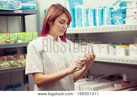 Woman Doctor In The Warehouse