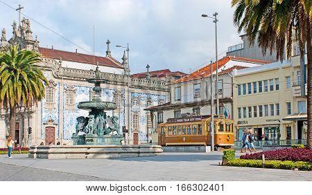 The Retro Tram In Porto