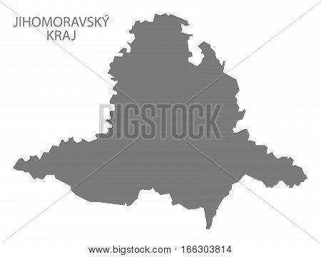 Jihomoravsky Kraj Czech Republic Map Grey