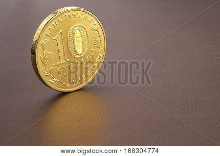 10 Russian rubles kopecks or copecks (RUB) coin poster