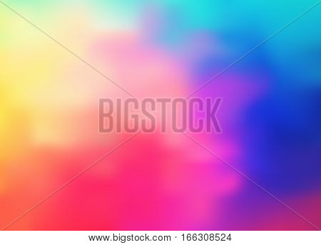 Bright Background With A Holographic Effect. Vector Illustration