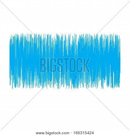 blue sound wave on white background. sound wave sign.