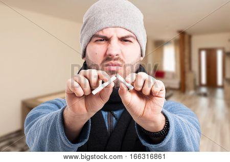 Sick Man Trying To Quit Smoking