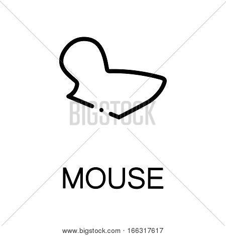 Mouse icon. Single high quality outline symbol for web design or mobile app. Thin line sign for design logo. Black outline pictogram on white background