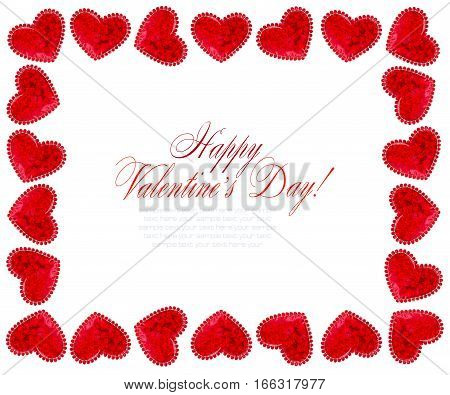Red Hearts On White Background For Valentines Day Valentines Card Love