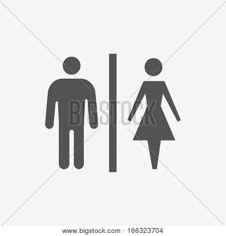 toilet man woman icon stock vector illustration flat design