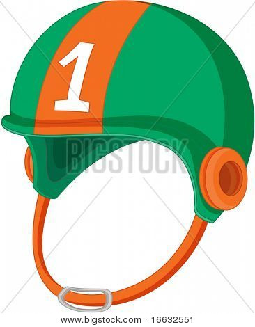 illustration of helmet on white