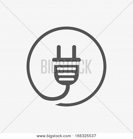 Plug vector icon stock vector illustration flat design