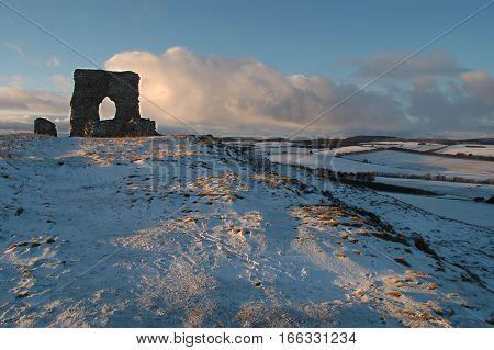 Dunnideer Castle and Hill Fort, near Insch, Aberdeenshire.