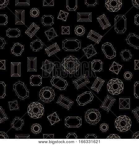 Art Deco 1920s-1930s motifs. Chaotic movement. Black, white.