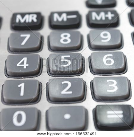 Close Up Business Design Calculator In Work Office