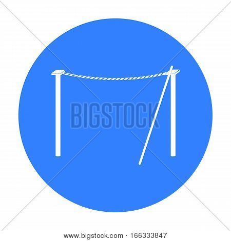 Tightrope icon in blue  style isolated on white background. Circus symbol vector illustration.
