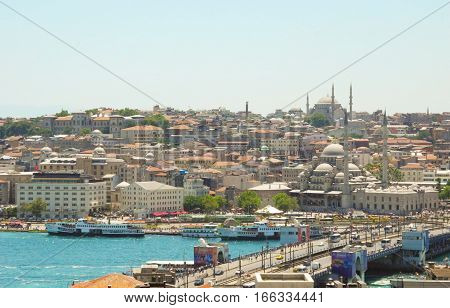 Mosques of Istanbul bay Golden Horn Istanbul.