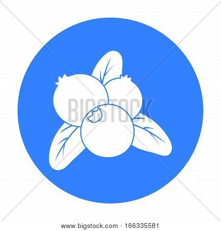 Cranberry icon in blue stylel vector illustration.