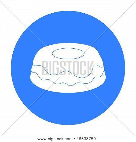 Cake icon in blue design isolated on white background. Cakes symbol stock vector illustration.