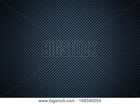Abstract modern blue perforated metal plate textured material design for background wallpaper graphic design