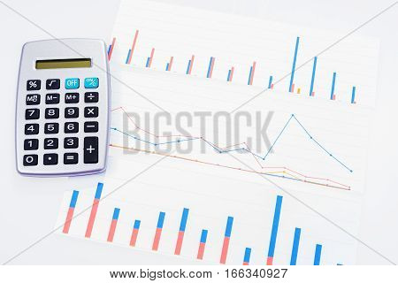 Income, profit, statistics and performance evaluation with diagram
