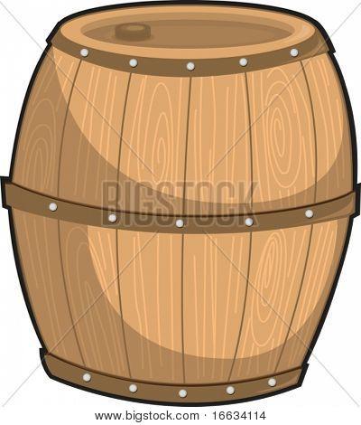 illustration of barrel on white