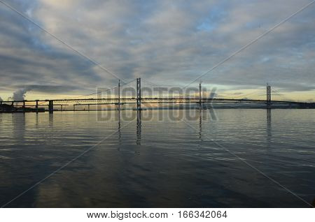A view of the Forth bridges from South Queensferry