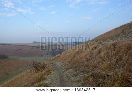 Valley With Golden Grass