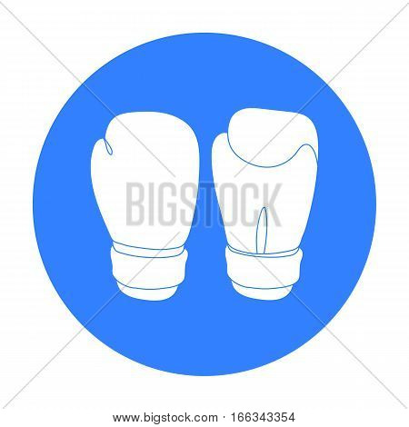Boxing gloves icon in blue style isolated on white background. Boxing symbol vector illustration.