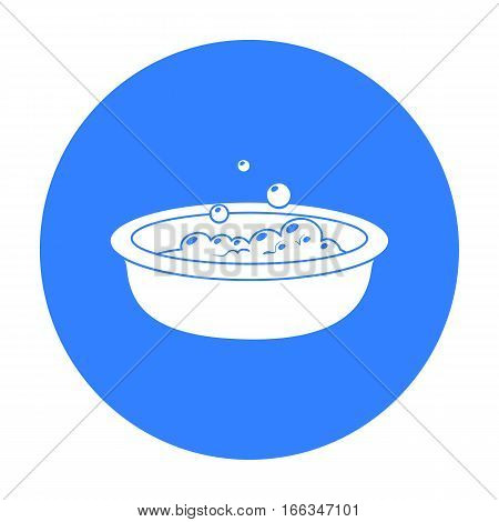 Baby bath icon in blue style isolated on white background. Baby born symbol vector illustration.