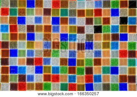 Mosaic pattern  as a background with many colors