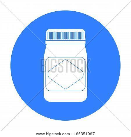 Australian food spread icon in blue design isolated on white background. Australia symbol stock vector illustration.