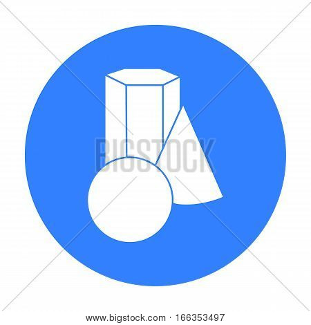 Geometric still life icon in blue style isolated on white background. Artist and drawing symbol vector illustration.