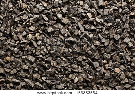 Texture of black basalt stones. Nature background