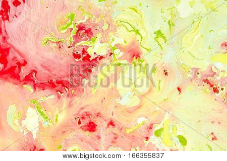 Bright colourful paint texture. Abstract modern background