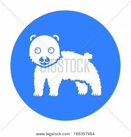 Bear icon blue. Singe animal icon from the big animals black. - stock vector