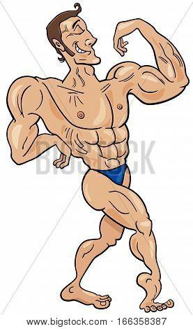 Bodybuilder Cartoon Character