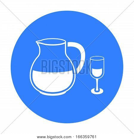 Sangria icon in blue style isolated on white background. Alcohol symbol vector illustration.