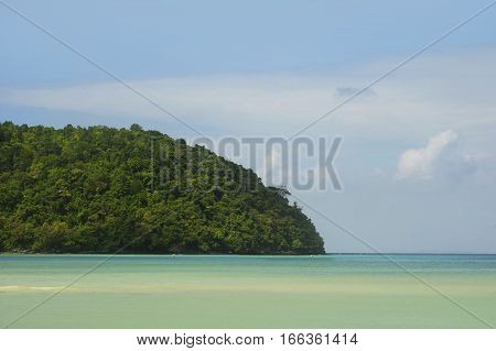 amazing beautiful landscape view of Koh Phi Phi island in Thailand Krabi province with turquoise water sea and blue sky in South Asia travel destination and tourist holiday concept