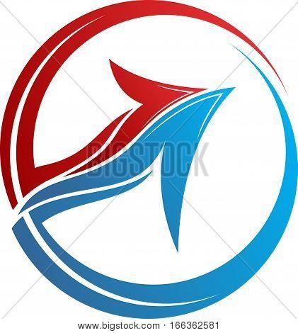 logo illustration color of circular arrow symbol business